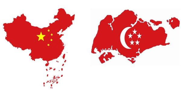 中国运输到新加坡